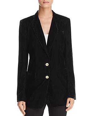 Donna Karan New York Velvet Blazer In Black