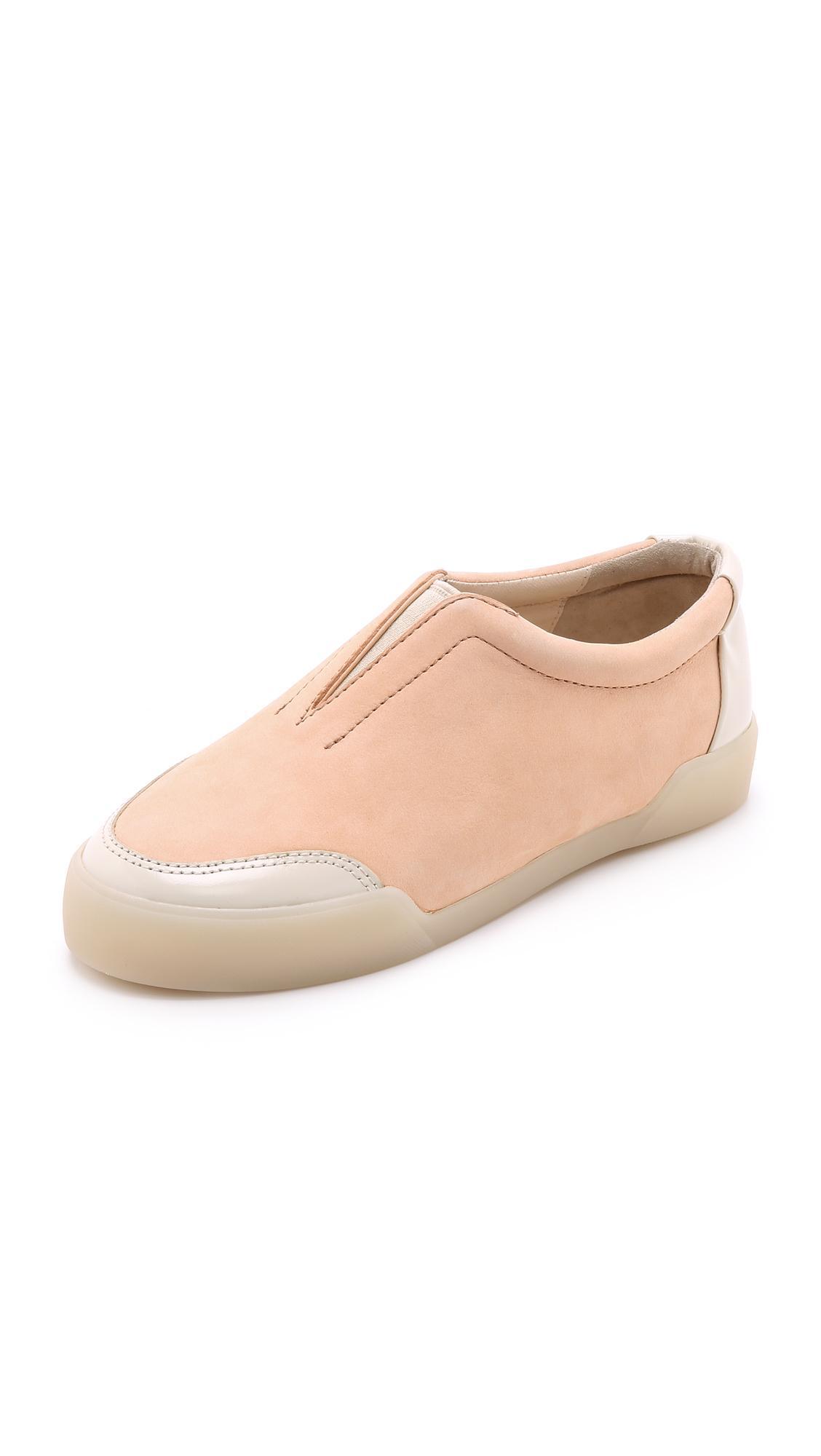 3.1 Phillip Lim Peach Low-Top Morgan Sneakers In Peach/Latte