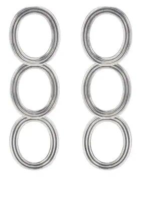 Pamela Love Helene Drop Earrings - Silver