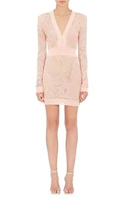 bdb135ce59e Balmain Pearl-Bead-Embellished Dress In Light Pink