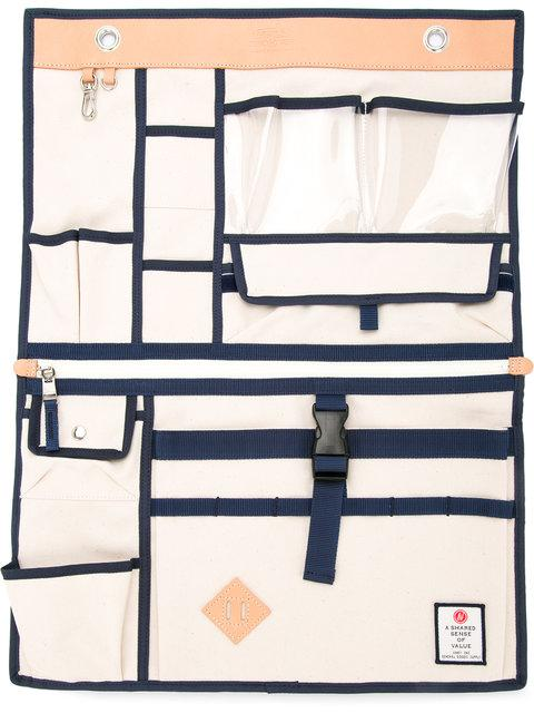 As2ov Large Canvas Wall Pocket In White