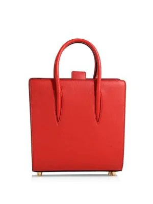 f8c2d48cd63 Paloma Small Studded Textured-Leather Tote in Red