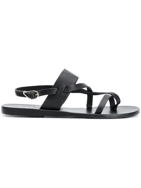 Ancient Greek Sandals Alethea Flat Sandals In Black