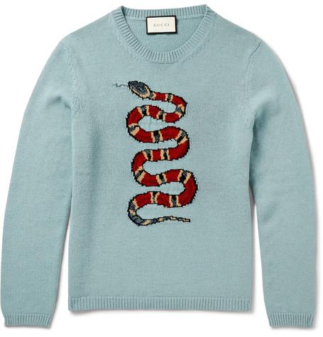 d7a9bc026266d Gucci Snake Crewneck Sweater