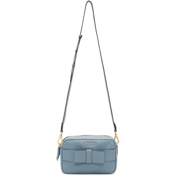 805b0b13b8bc Miu Miu Bow Detail Camera Bag - Blue