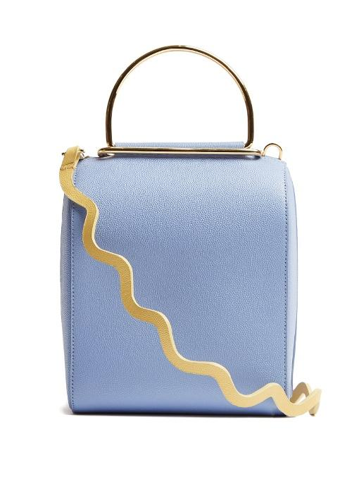 05ded156d3 Roksanda Besa Textured-Leather Shoulder Bag In Blue | ModeSens
