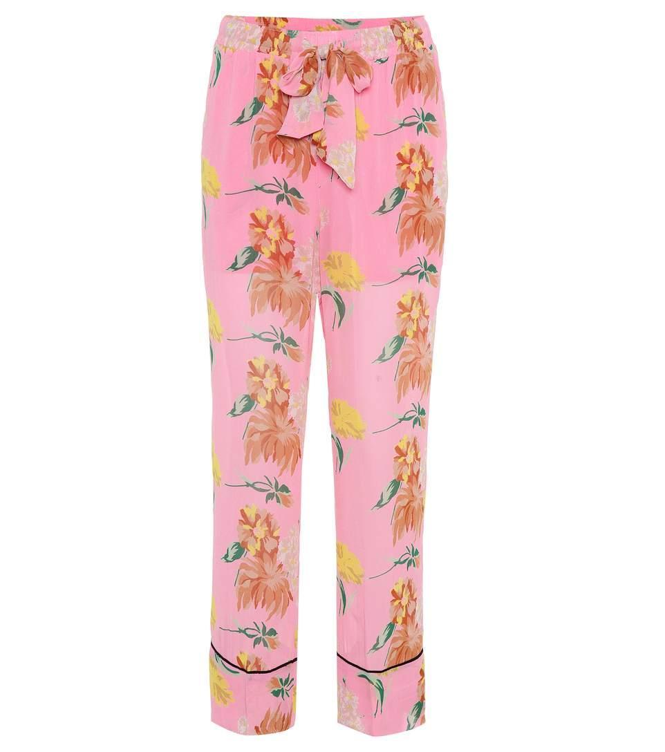 9a25b85a73f1 Ganni Marceau Georgette Trousers In Pink | ModeSens