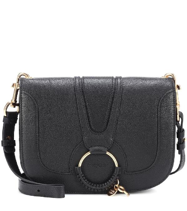 4d48927a4085 See By ChloÉ Hana Medium Goatskin Leather Crossbody Bag In Black