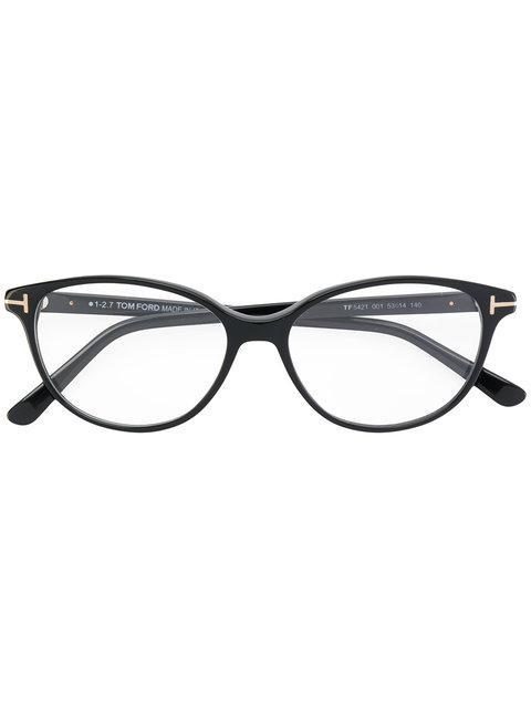 5503e3407369 Tom Ford Round Cat-Eye Glasses In Black