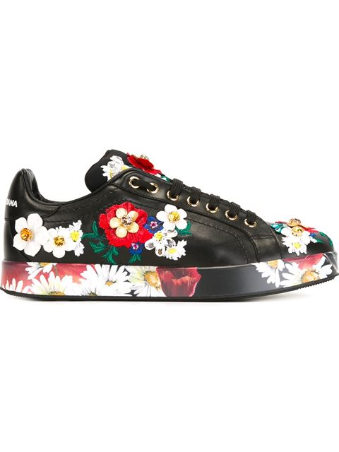 Dolce & Gabbana Floral Embroidery Sock Booties