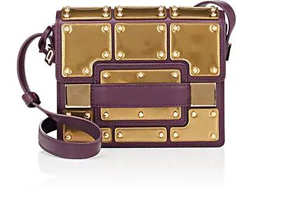 Delvaux Madame Mini Leather Shoulder Bag In Prune