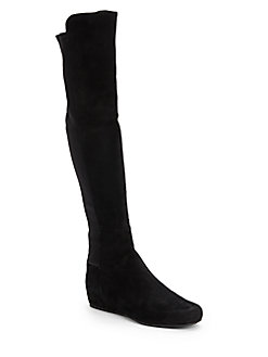 Stuart Weitzman Playtime Ultrastretch Over-The-Knee Boots In Black