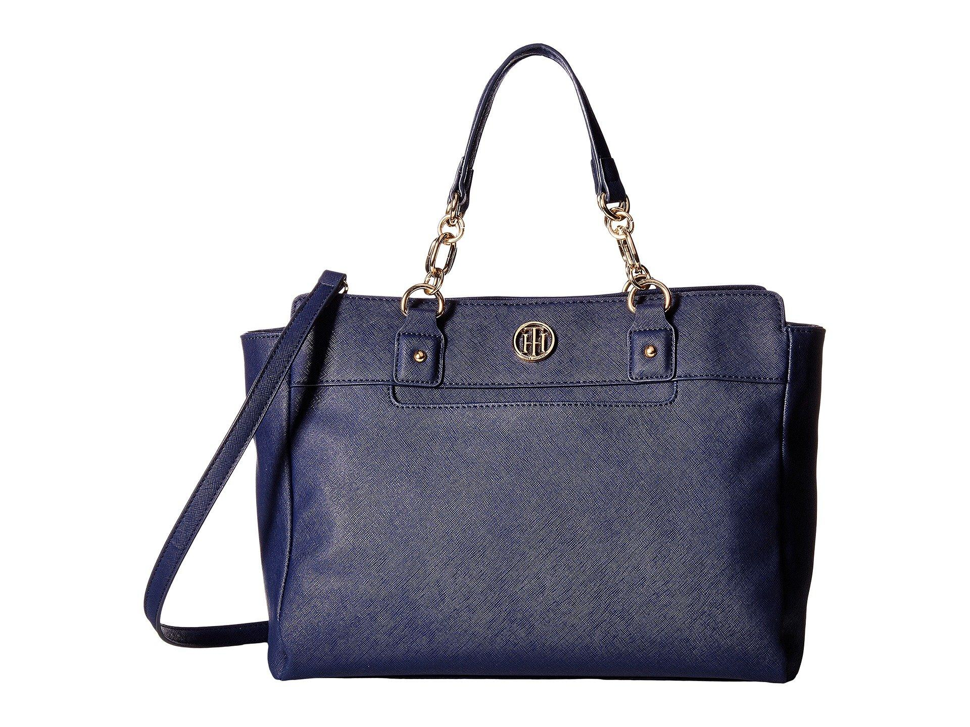 8fd42d535e86a Tommy Hilfiger Evaline Convertible Satchel In Tommy Navy