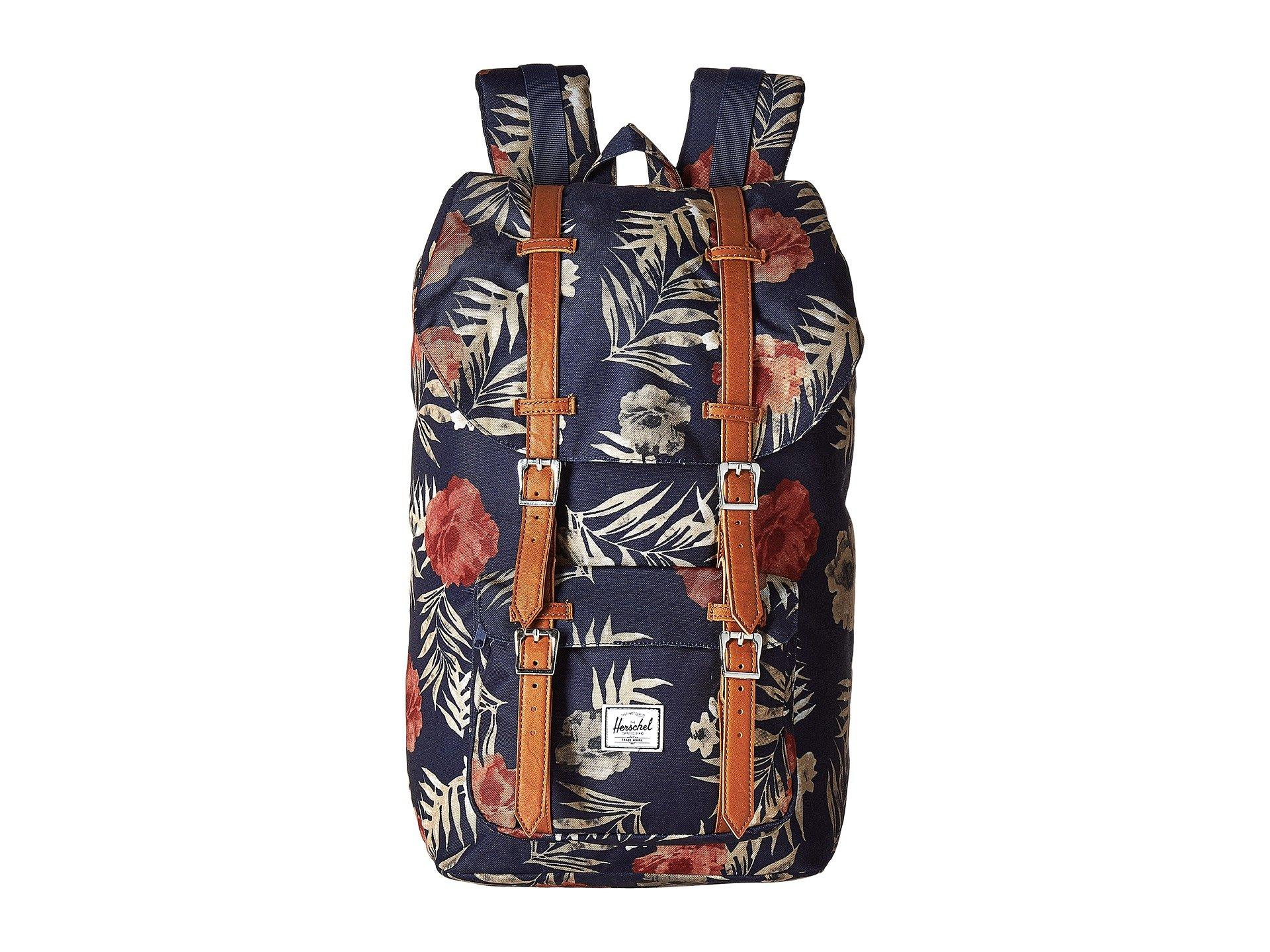 2a7f0901f06 Herschel Supply Co. Little America In Peacoat Floria Tan Synthetic Leather