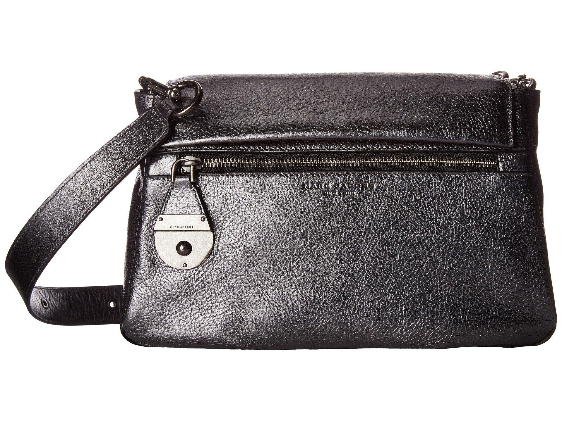 Marc Jacobs The Standard Metallic Shoulder Bag, Anthracite