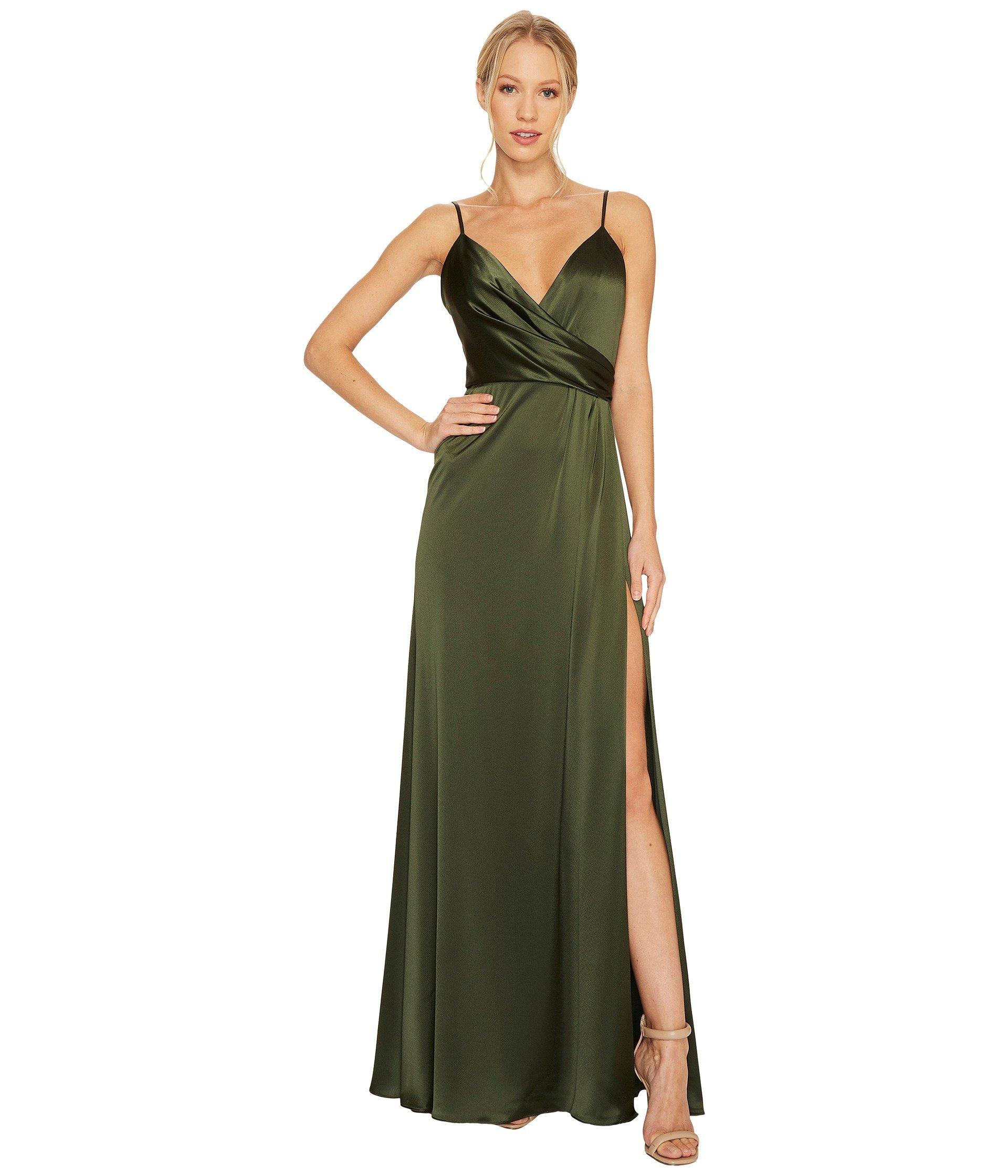 697f2434ac194 Jill Jill Stuart Satin Back Crepe Slip Dress In Olive | ModeSens