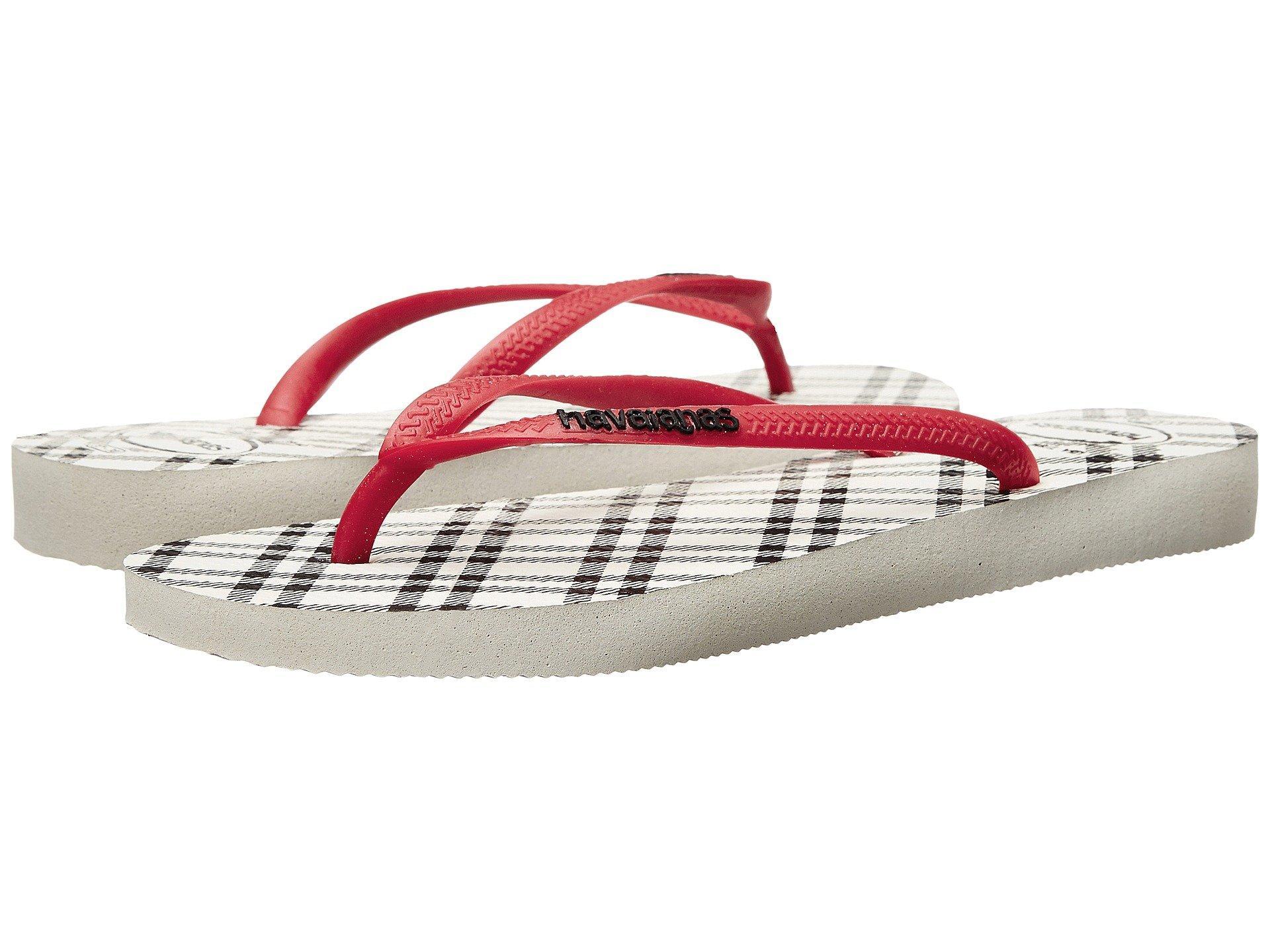 78342059aab5 Havaianas Slim Retro Flip Flops In White Red