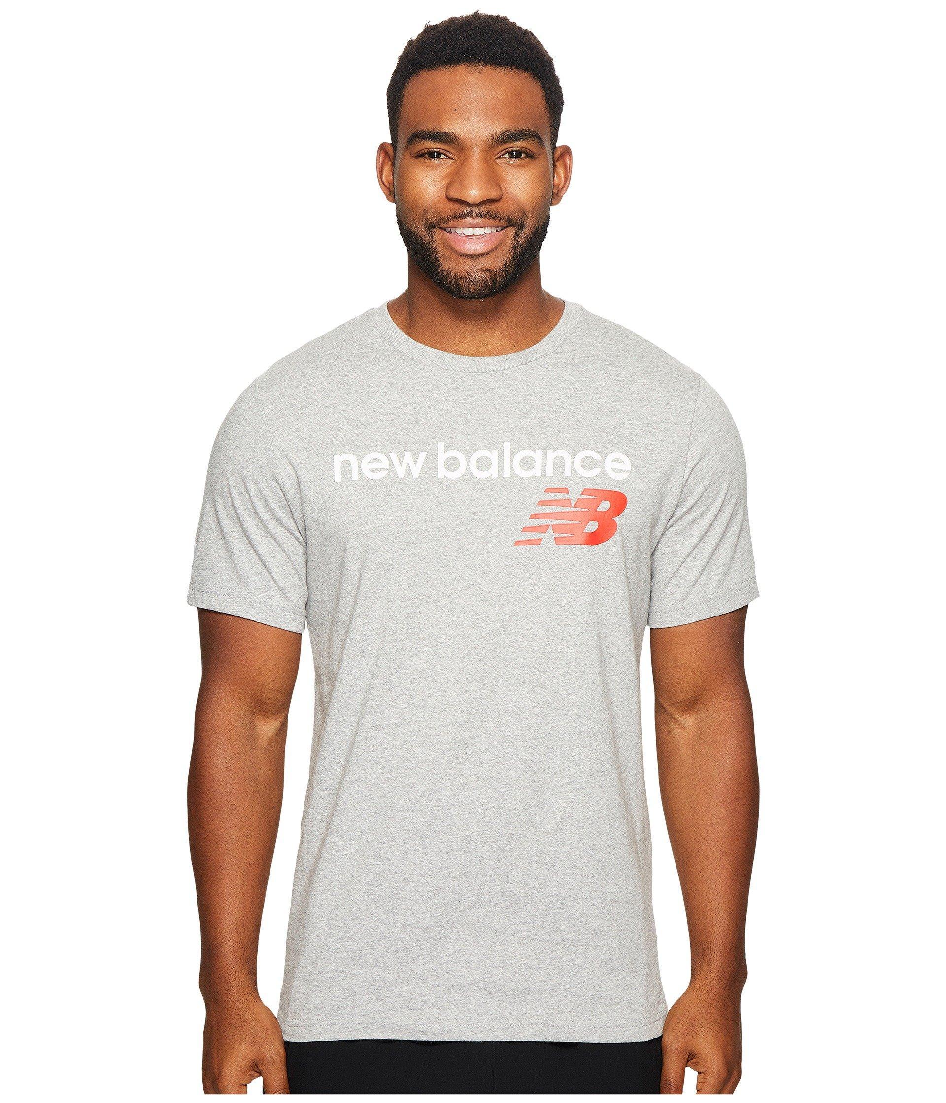 New Balance Nb Athletics Main Logo Tee In Athletic Grey