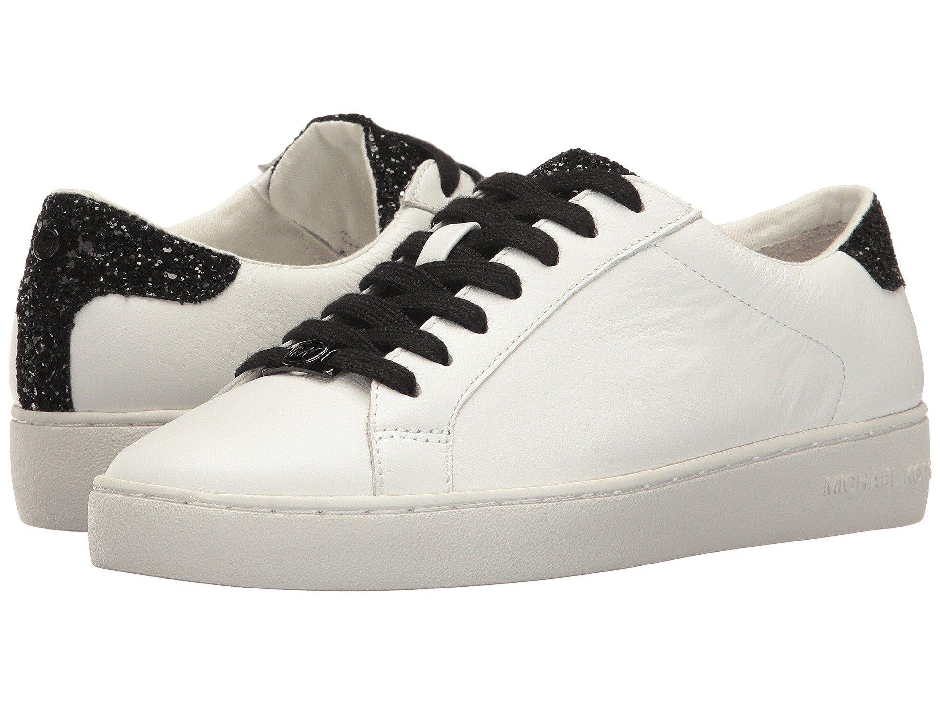 4d8d1fab6a65 Michael Michael Kors Irving Lace-Up In Optic White Black