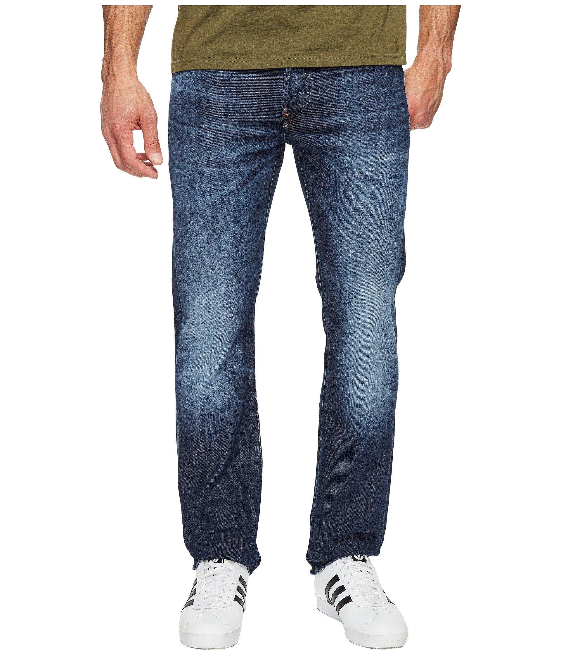 G-Star Attacc Straight Fit Jeans In Blue Denim Stretch Denim Dark Aged