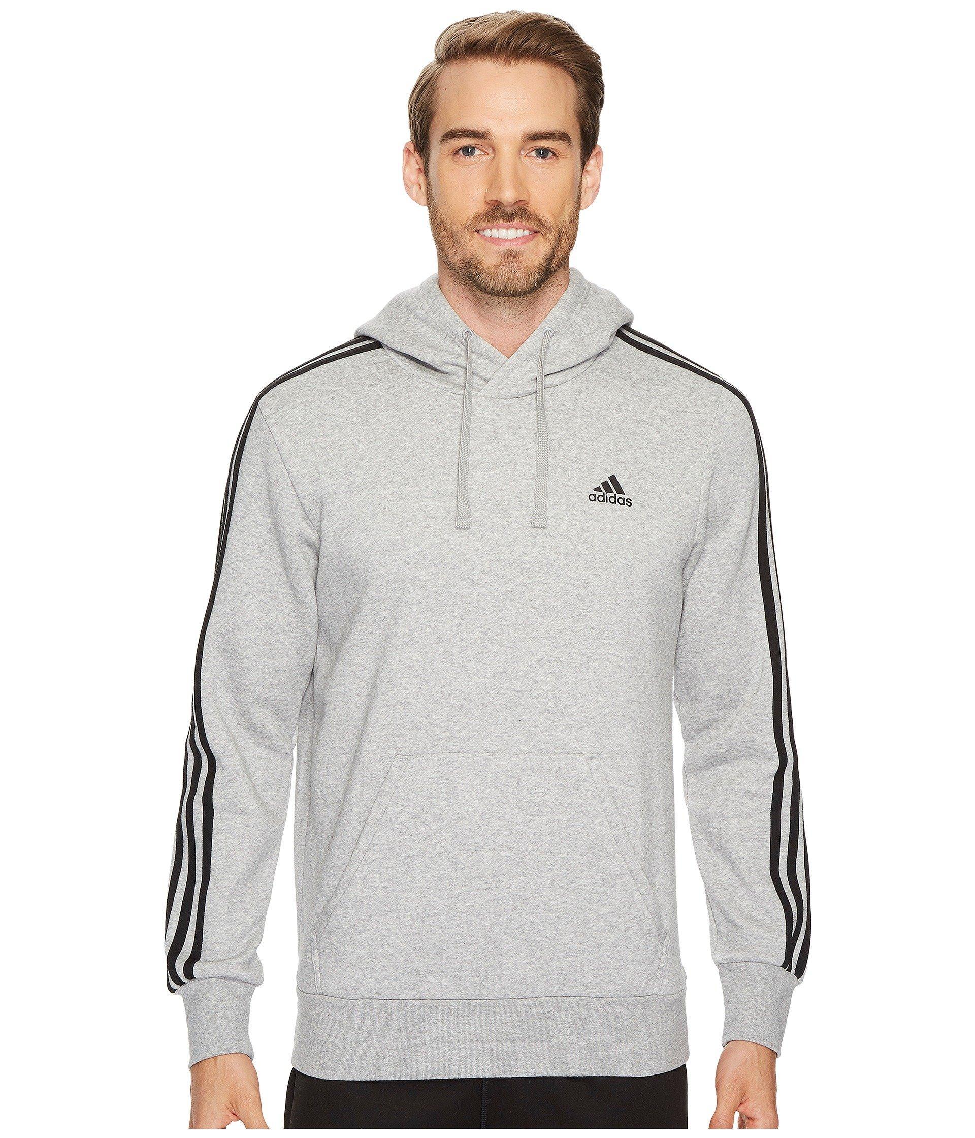 Essentials 3S Pullover Brushed Fleece Hoodie, Medium Grey HeatherBlack