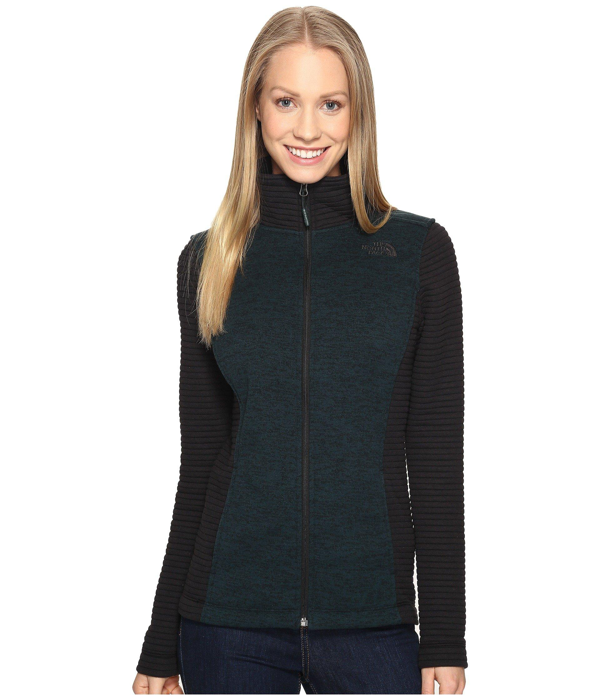 788397fdb Indi Full Zip Jacket, Darkest Spruce Heather/Tnf Black (Prior Season)