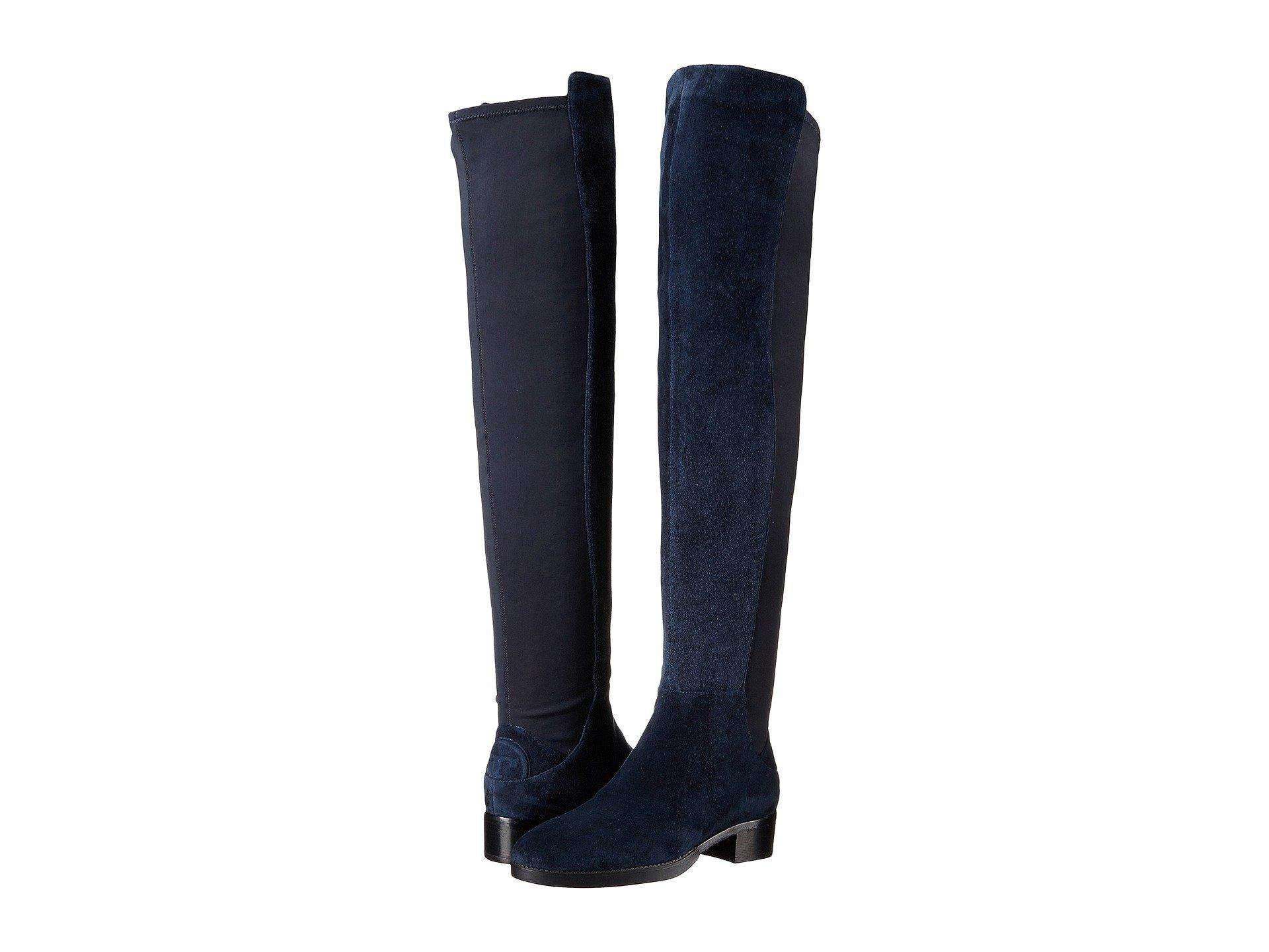 5f15a8c55 Tory Burch Caitlin Stretch Over-The-Knee Boot In Royal Navy