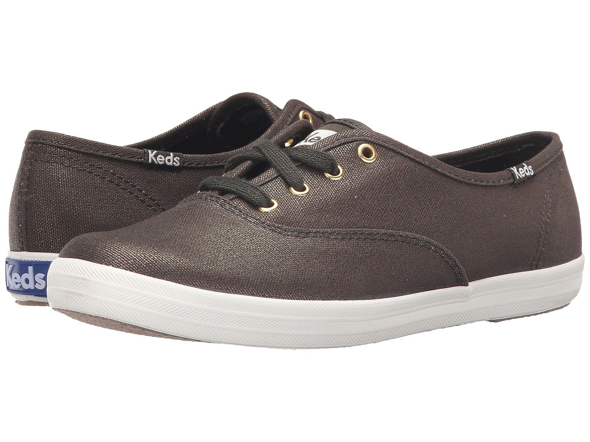 d97e137a851a Keds Champion-Metallic Canvas In Forest Green