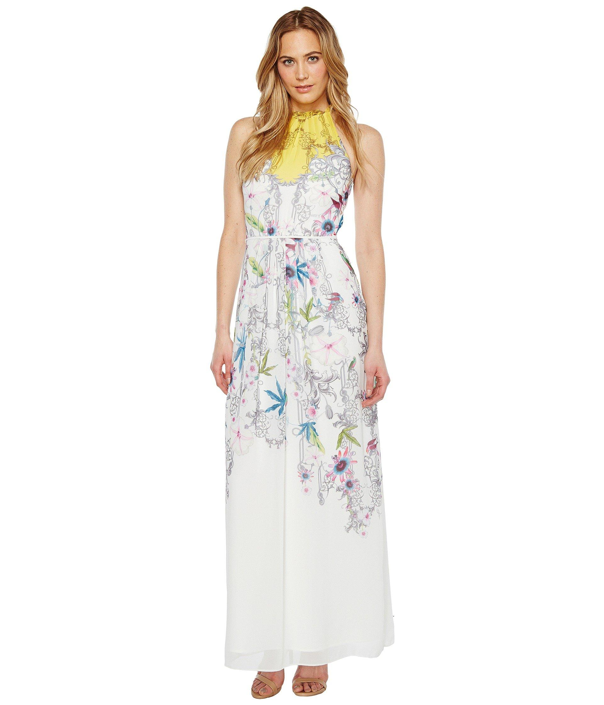 70ed1b6997d Ted Baker Ellly Passion Flower Maxi Dress In Yellow
