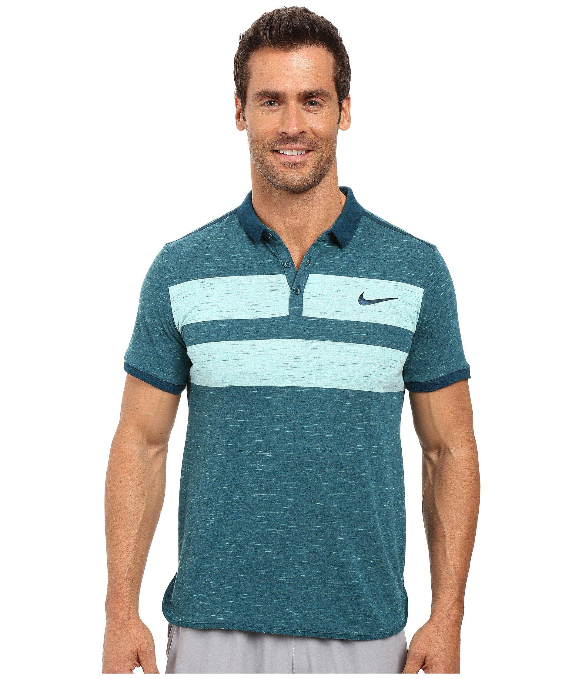 0b8d2aba Nike Court Dry Advantage Tennis Polo In Midnight Turquoise/Midnight  Turquoise