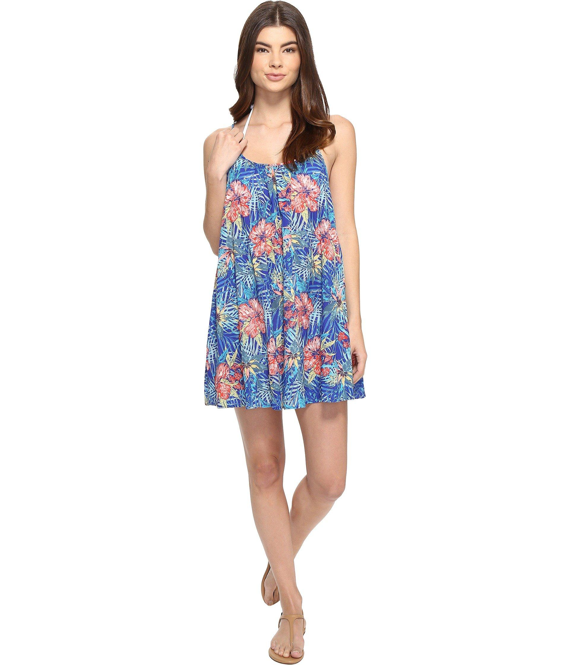 834ab00de6 Roxy Windy Fly Away Print Dress Cover-Up In Royal Blue Beyond Love ...