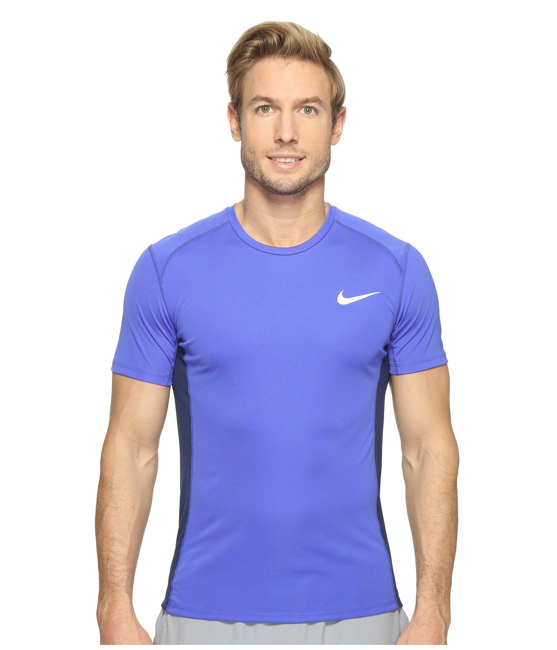 new arrival a2284 6d2e1 Nike Dry Miler Short Sleeve Running Top, Burgundy Ash Heather   ModeSens