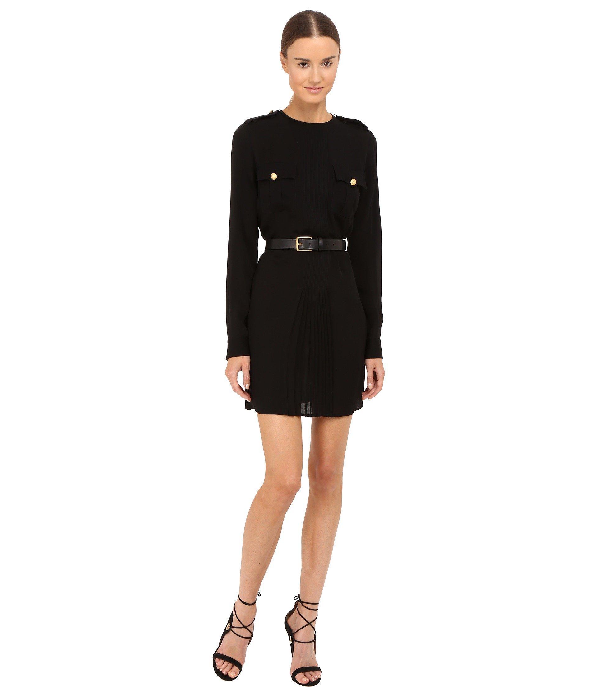 Dsquared2 Silk Georgette Dress In Black