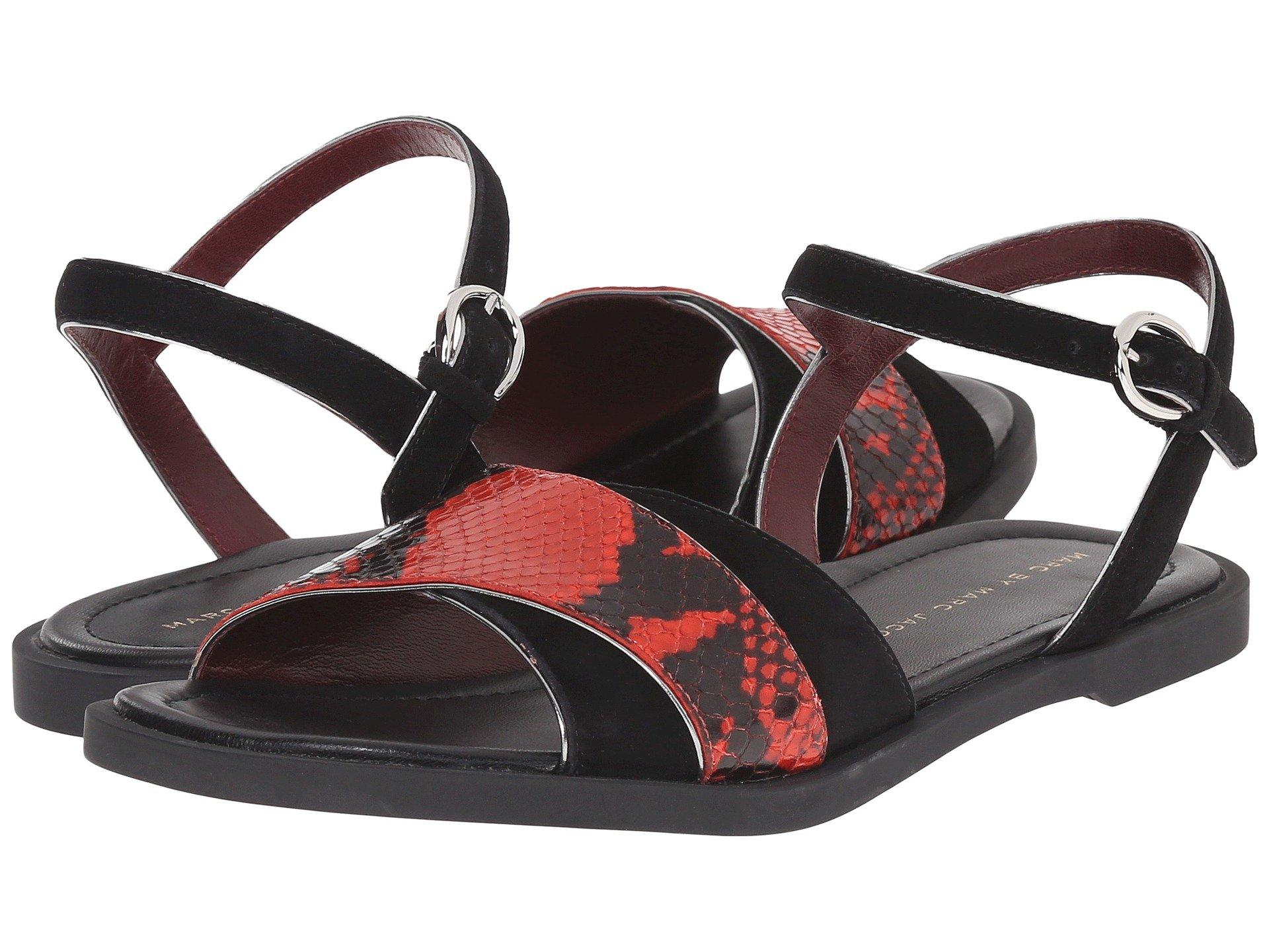 Marc By Marc Jacobs Jodie Flat Sandal In Red