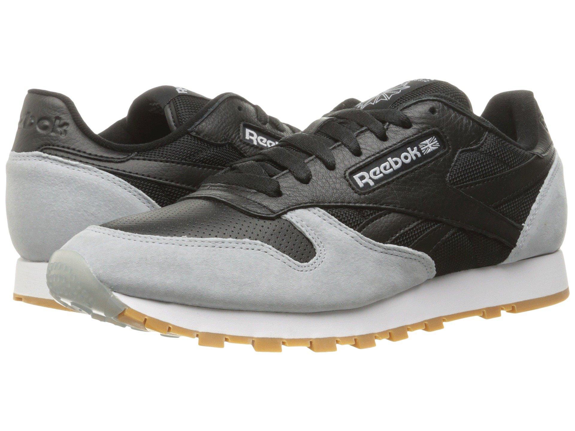 a7df19fe07d Reebok Classic Leather Spp In Black Cloud Grey Gum