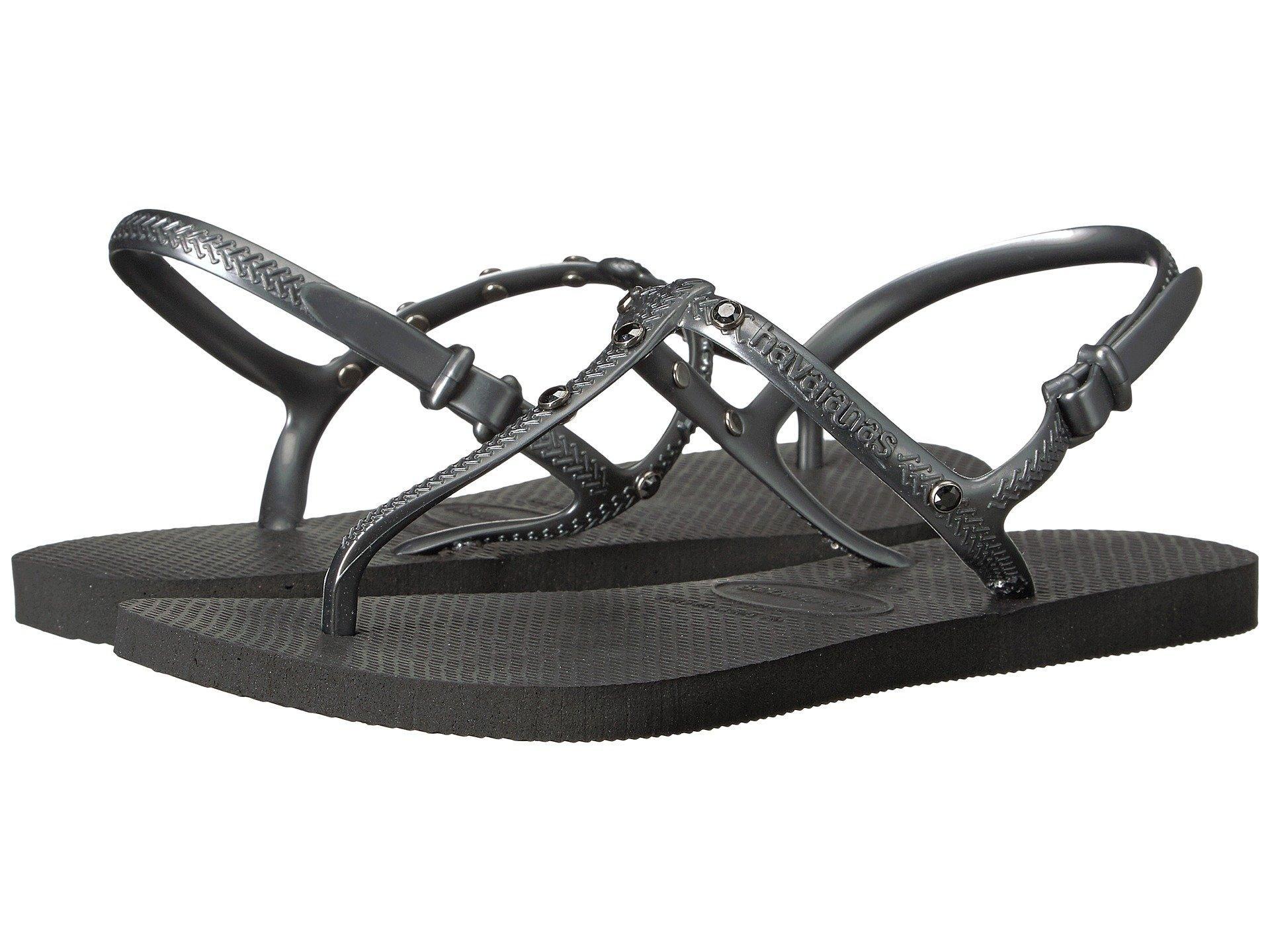 9b248a175 Havaianas Freedom Crystal Sw Flip-Flops In Black   ModeSens