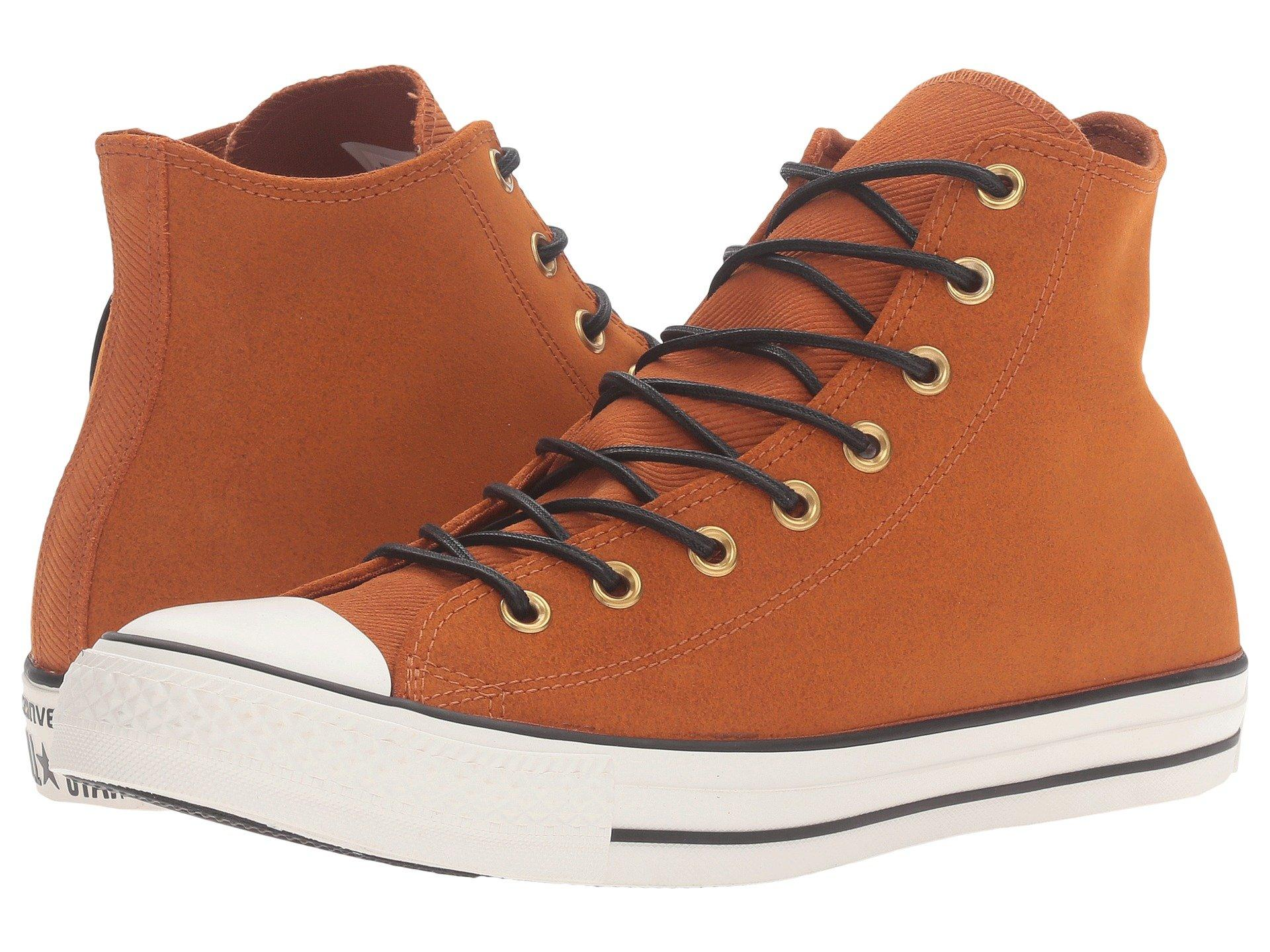 e8b0222fb391 Converse Chuck Taylor® All Star® Leather Corduroy Hi In Antique Sepia Egret