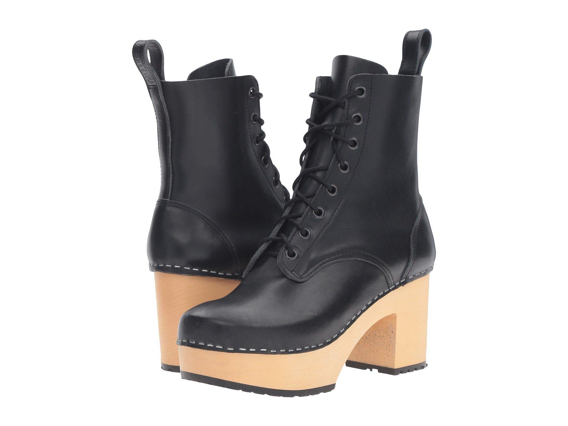 d9e15ae1bc1b Swedish Hasbeens Lace-Up Boot In Black