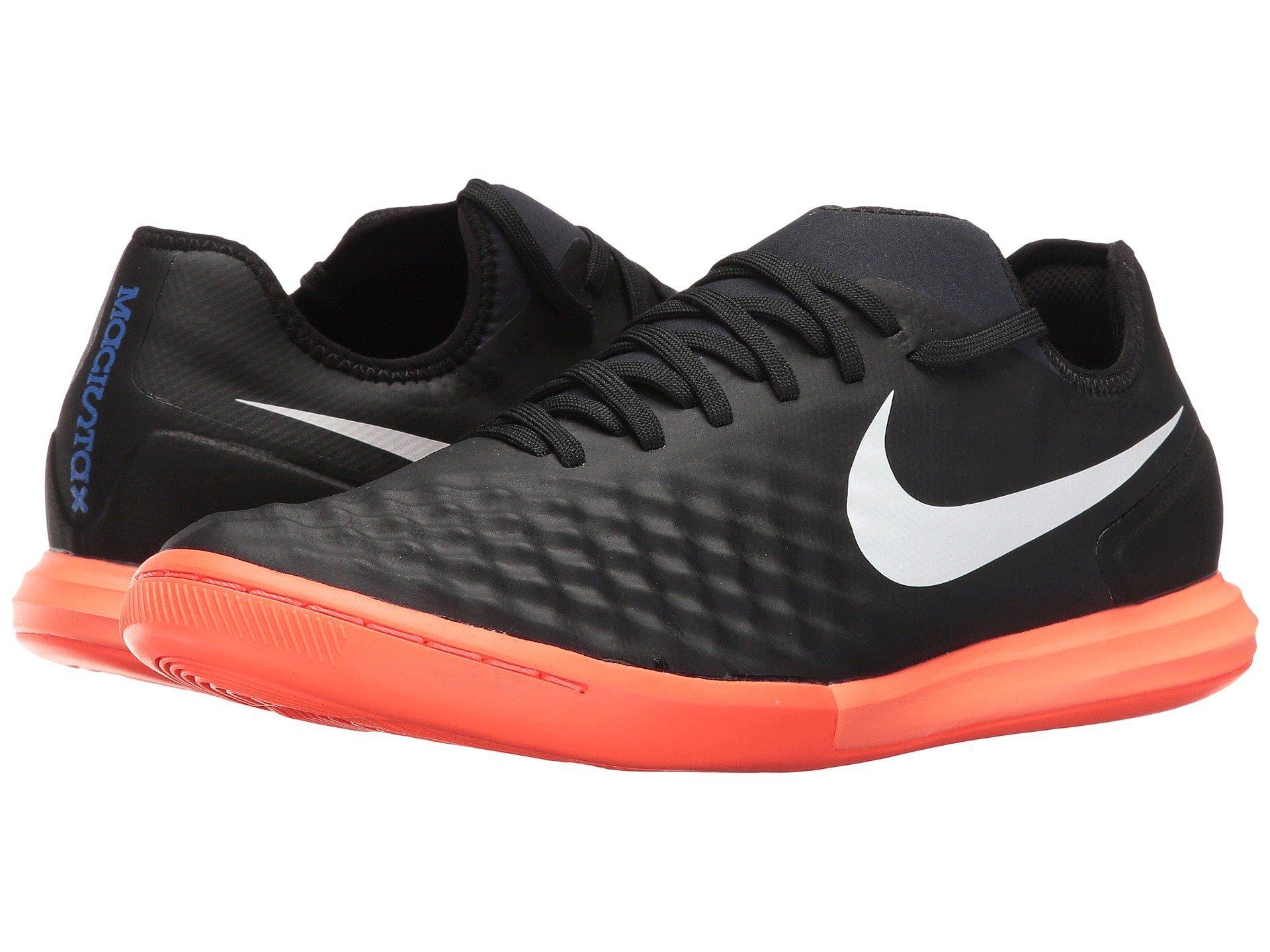 b9de52f46077 Nike Magistax Finale Ii Ic In Black White Hyper Orange Paramount Blue