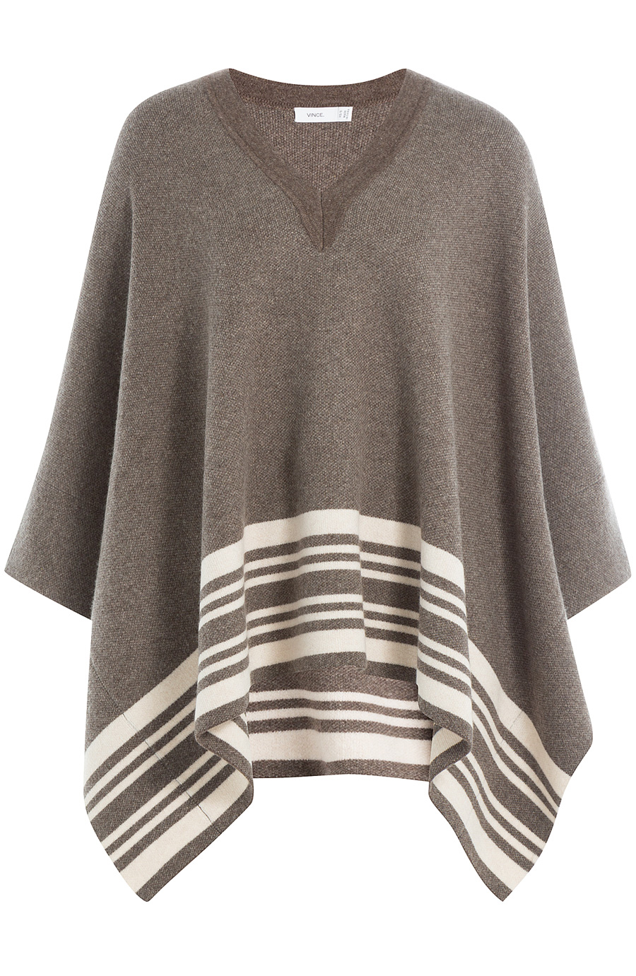 Vince Wool-cashmere Cape In Brown