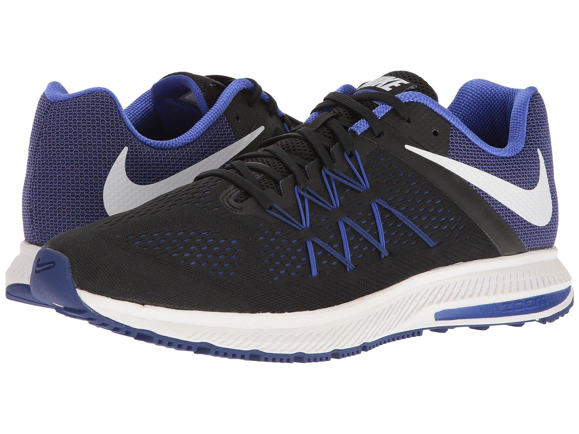 quality design c01b5 a5aef Nike Zoom Winflo 3 In Black White Paramount Blue