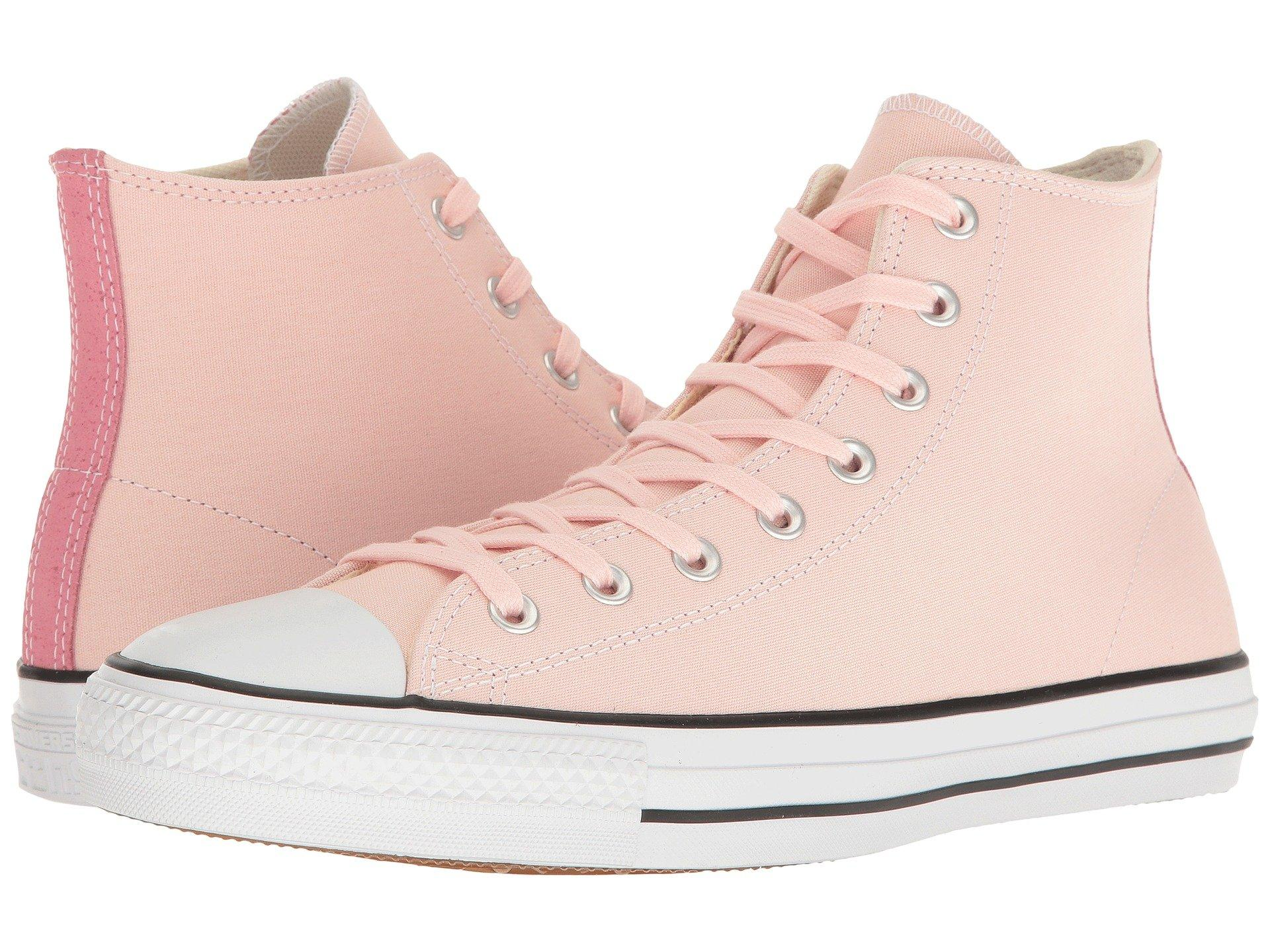 Chuck Taylor® All Star® Pro Suede Backed Canvas Hi, Vapor PinkPink GlowNatural