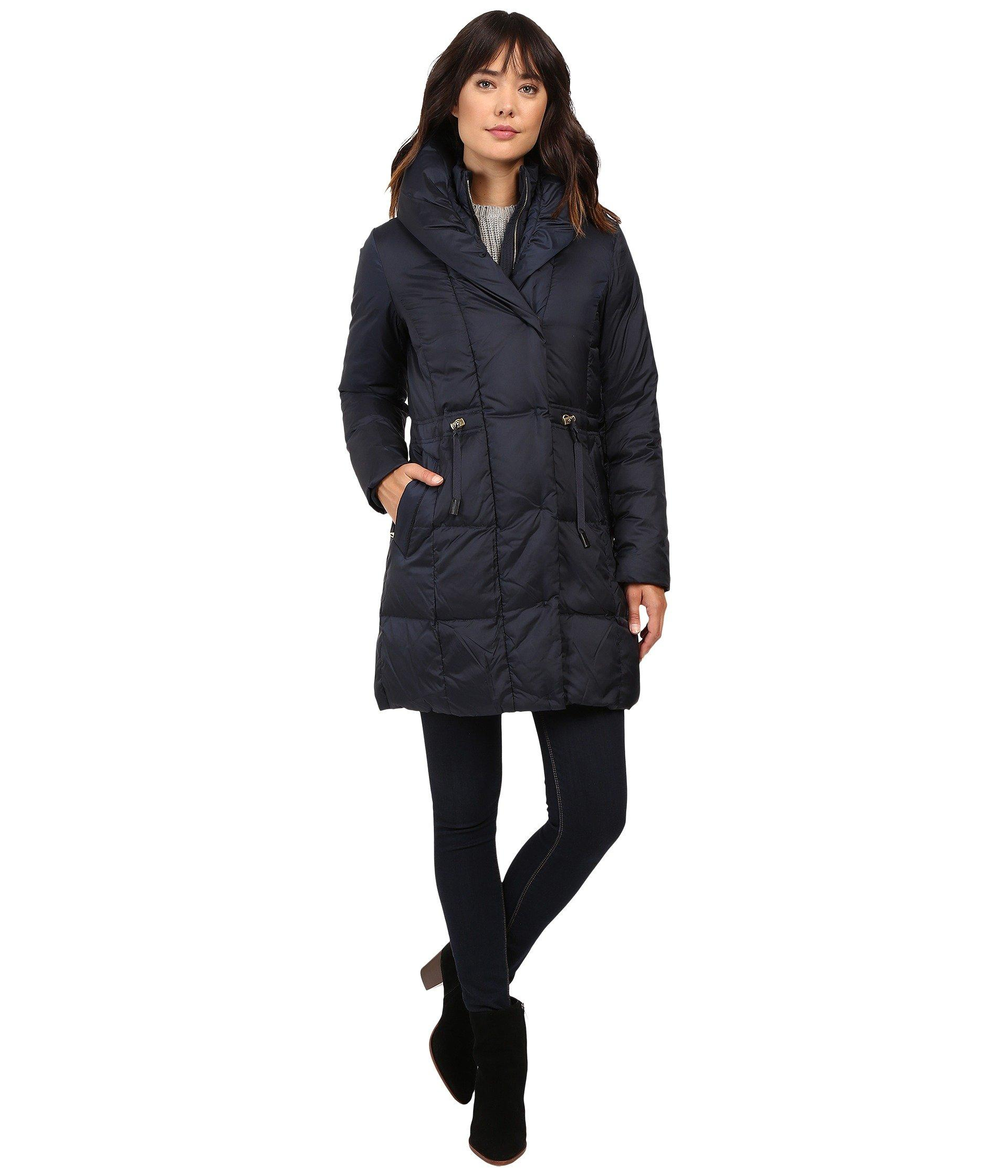 e3d577730 Bib Front Down Coat With Oversized Shawl Collar, Rainstorm