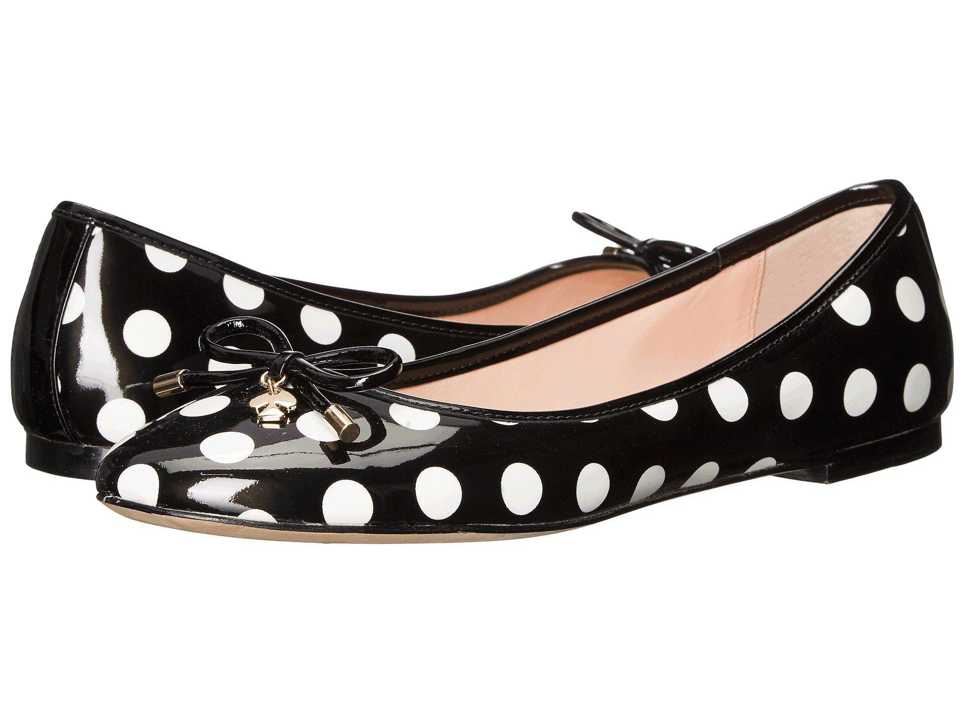 Kate Spade Willa In Black/White Polka Dot Patent