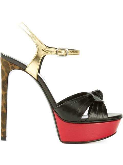 Saint Laurent 'Candy' Sandals In Black