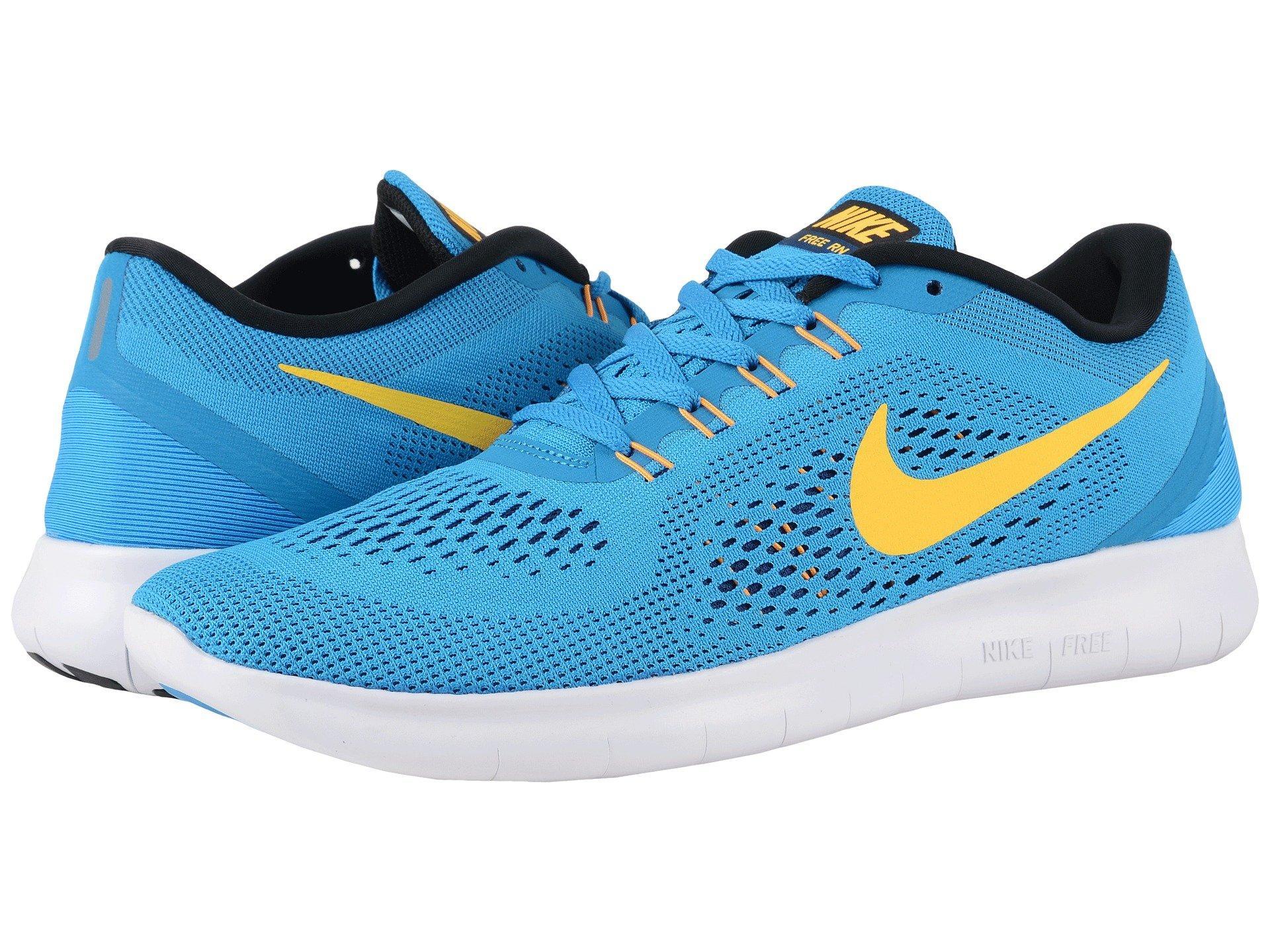 watch 61c48 43fdb Nike Free Rn, Heritage Cyan Black Blue Spark Laser Orange