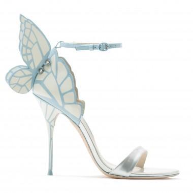 040900c6362ec4 Sophia Webster  Evangeline  3D Glitter Angel Wing Mirror Leather Sandals In  Silver