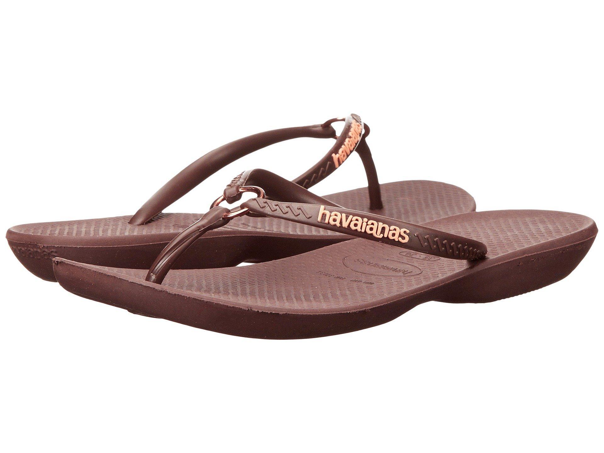 82a90a5082e9 Havaianas Ring Flip Flops In Dark Brown Dark Brown