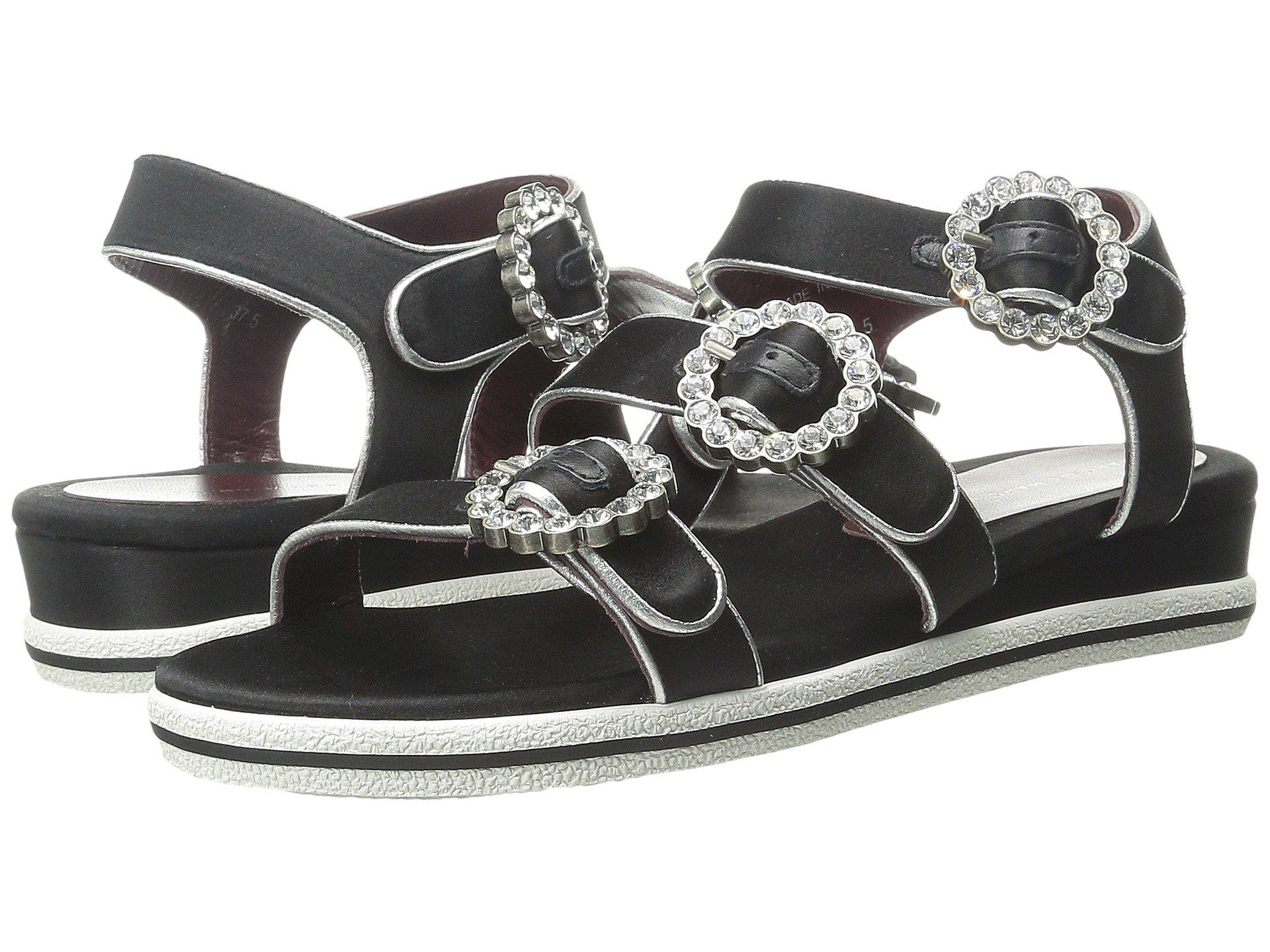 Marc By Marc Jacobs Charlotte Strass Buckle Sandal In Black