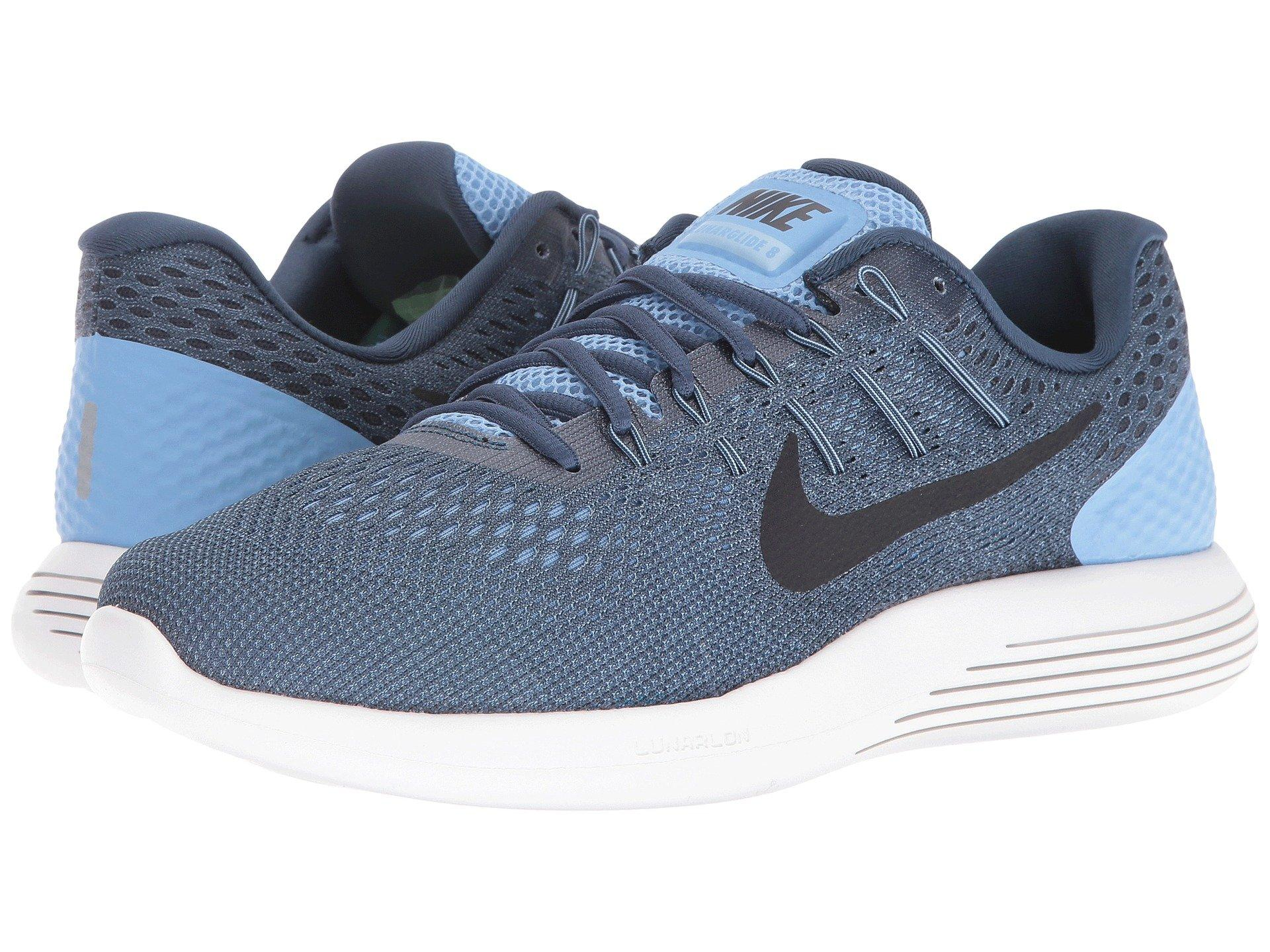 kvalitetsprodukter detaljerade bilder högmode Lunarglide 8 in Light Blue/Squadron Blue/Ghost Green/Black